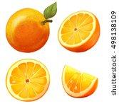illustration with orange slices.... | Shutterstock . vector #498138109