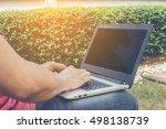 business man work in garden | Shutterstock . vector #498138739