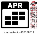 april calendar grid icon with...