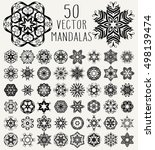 set of ornate lacy doodle... | Shutterstock . vector #498139474