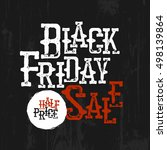 black friday sale typography.... | Shutterstock .eps vector #498139864