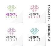 Medical Heart Modern Logo Base...