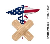 us health care bill  caduceus... | Shutterstock .eps vector #49814569