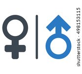 wc gender symbols icon. glyph... | Shutterstock . vector #498153115