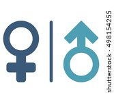 wc gender symbols icon. glyph... | Shutterstock . vector #498154255
