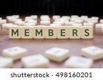 members word on block concept   Shutterstock . vector #498160201