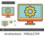 computer settings vector line... | Shutterstock .eps vector #498162709