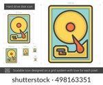 hard drive disk vector line... | Shutterstock .eps vector #498163351