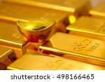gold bars and gold bullions   Shutterstock . vector #498166465