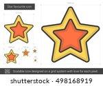 star favourite vector line icon ... | Shutterstock .eps vector #498168919