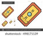 movie ticket vector line icon... | Shutterstock .eps vector #498171139
