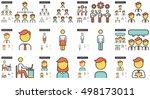 human resources vector line... | Shutterstock .eps vector #498173011