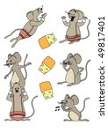 A Funny Set Mice In A Cartoon...