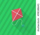 kite icon   vector flat long...   Shutterstock .eps vector #498188641