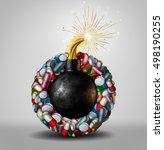 pharmaceutical danger and... | Shutterstock . vector #498190255