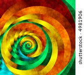 Abstract Fractal Spiral In...