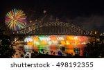 sydney new year eve fireworks... | Shutterstock . vector #498192355