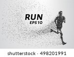 runner of the particles. the... | Shutterstock .eps vector #498201991