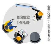 business team and teamwork...   Shutterstock .eps vector #498204889