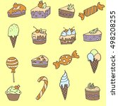 yellow sweet candy pattern | Shutterstock .eps vector #498208255