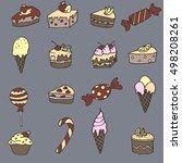 sweet candy pattern | Shutterstock .eps vector #498208261