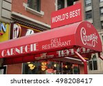 new york   october 13  2016 ... | Shutterstock . vector #498208417