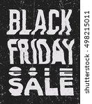 black friday sale glitch art... | Shutterstock .eps vector #498215011