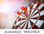 Red Three Darts Arrows In The...