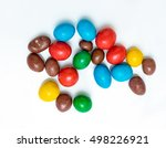 Round Colored Candy On White...