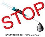 Постер, плакат: Stop drugs wall sheet
