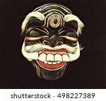 old man mask with smile and... | Shutterstock . vector #498227389