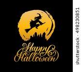 witch vector illustration with... | Shutterstock .eps vector #498230851