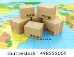 global logistics  shipping and... | Shutterstock . vector #498233005