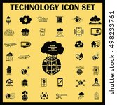technology innovation icons set.... | Shutterstock .eps vector #498233761