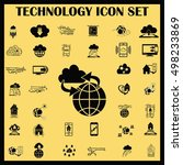technology innovation icons set.... | Shutterstock .eps vector #498233869