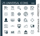 set of 25 universal icons on... | Shutterstock .eps vector #498237301