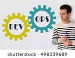 devops concept sign on white... | Shutterstock . vector #498239689