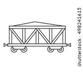 cargo wagon icon. outline... | Shutterstock .eps vector #498241615