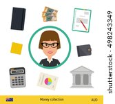businesswoman character with... | Shutterstock .eps vector #498243349