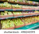 defocused blur of supermarket... | Shutterstock . vector #498243595
