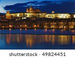 night view on prague castle ... | Shutterstock . vector #49824451