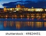 night view on prague castle ... | Shutterstock . vector #49824451