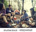 people friendship hangout...   Shutterstock . vector #498244969