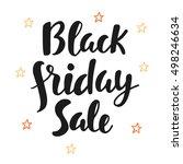 black friday sale poster. hand... | Shutterstock .eps vector #498246634
