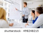 business people and architects... | Shutterstock . vector #498248215