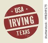 grunge vintage round stamp with ... | Shutterstock .eps vector #498249175