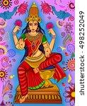 vector design of goddess... | Shutterstock .eps vector #498252049