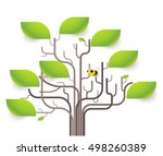 leaves infographic concept.... | Shutterstock .eps vector #498260389