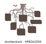 tree root infographic template. ... | Shutterstock .eps vector #498261034