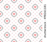 heart seamless pattern with... | Shutterstock .eps vector #498261181